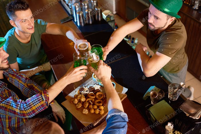 Irish Friends Celebrating Saint Patricks Day