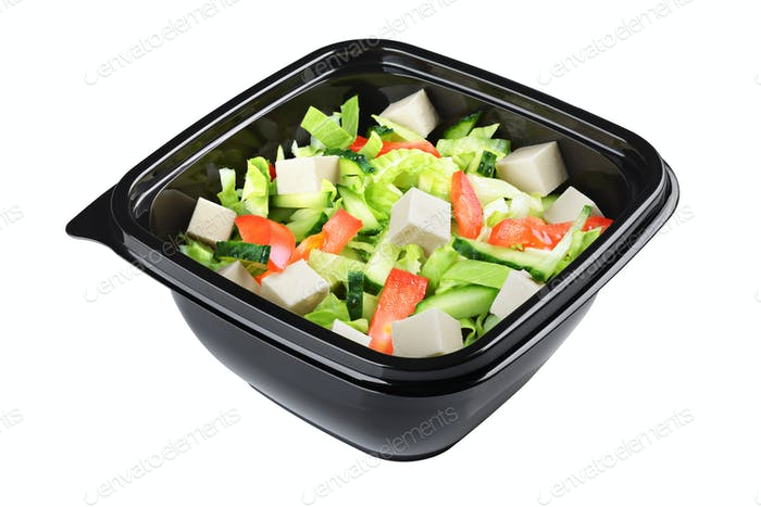 Greek salad isolated