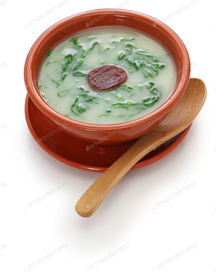 caldo verde (kale soup) , traditional portuguese cuisine