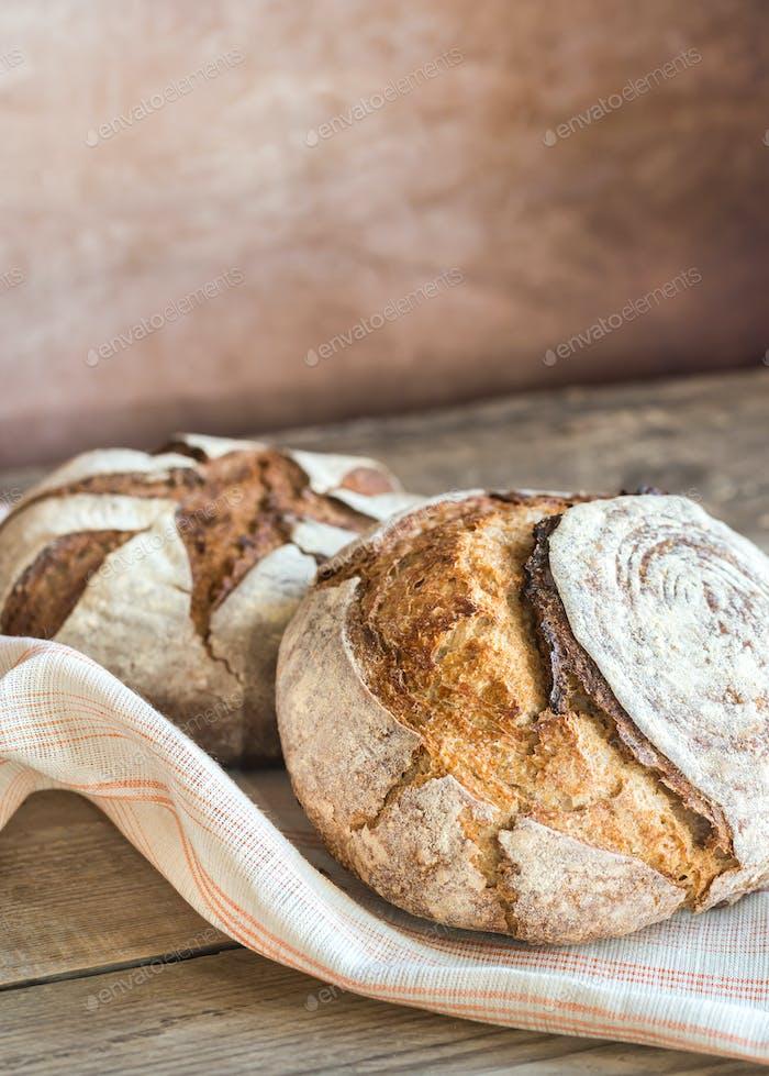 Dos panes de pan