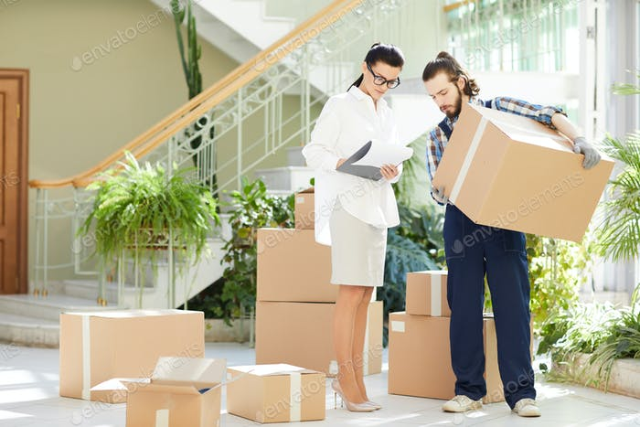 Business lady running moving staff