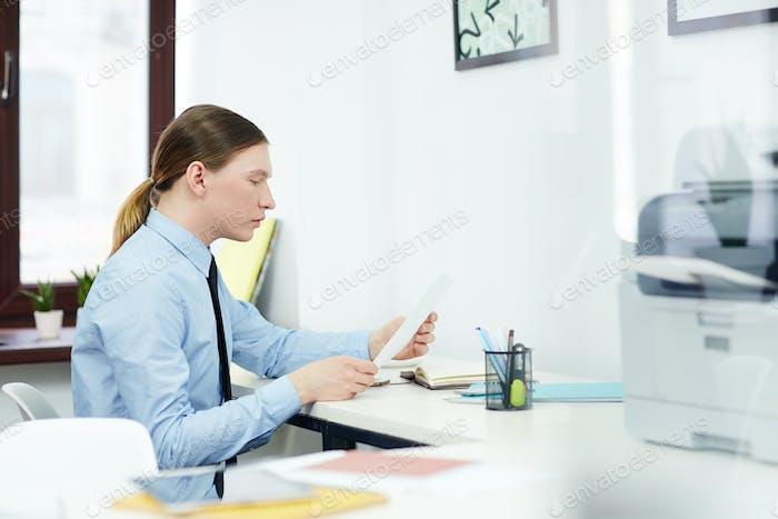 Banker at work