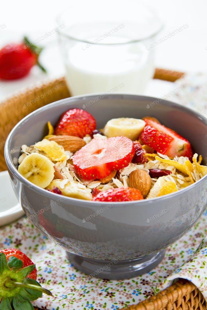 Muesli breakfast