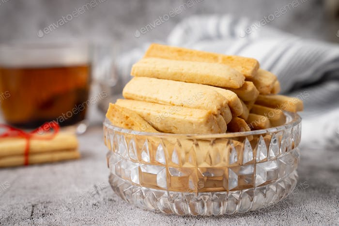 Parmesan cheese cookie sticks