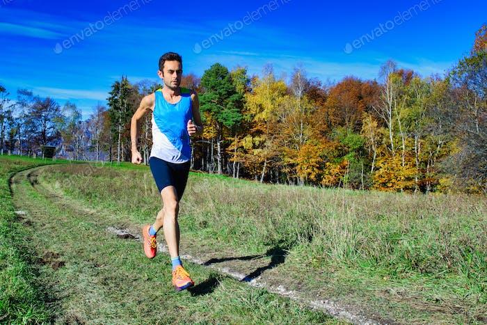 Laufender Athlet