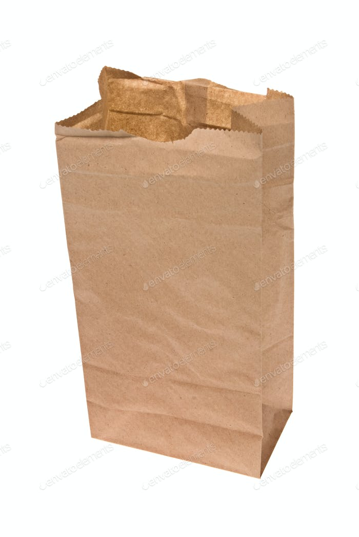 Open paper lunch bag