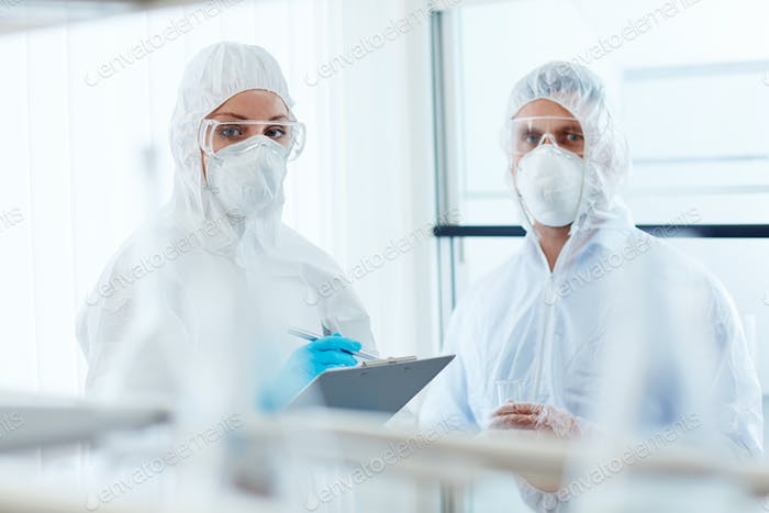 Clinicians in overalls