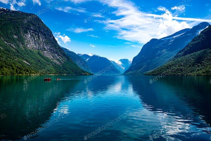 lovatnet See Schöne Natur Norwegen.