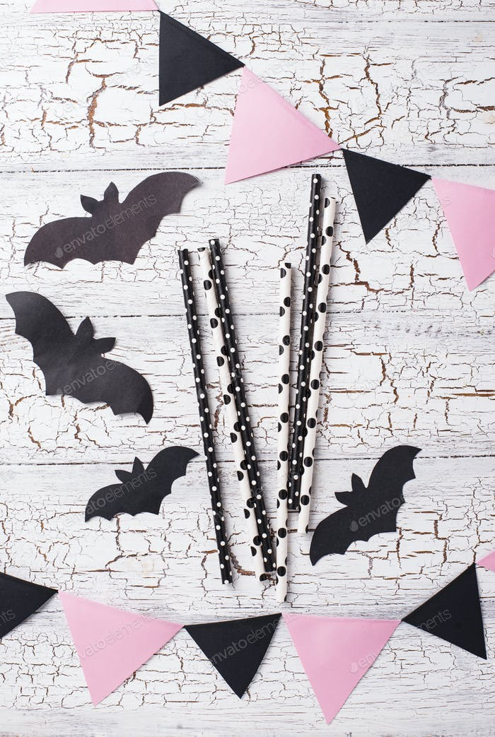 Halloween black and pink decor