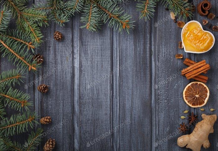 Mulled wine,ingredients.Christmas drink.