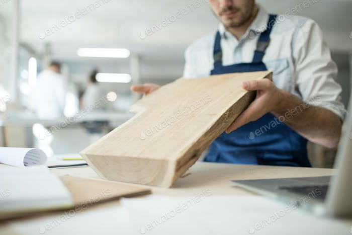Cabinetmaker at work