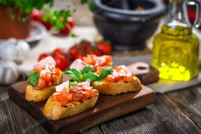 Tasty bruschetta