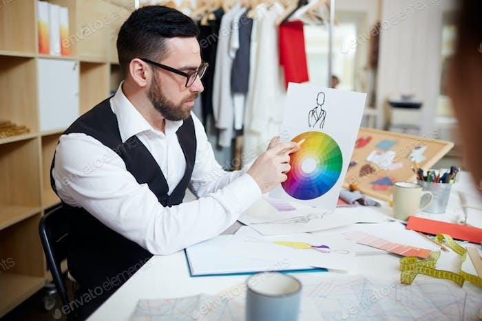 Auf Farbdiagramm zeigen