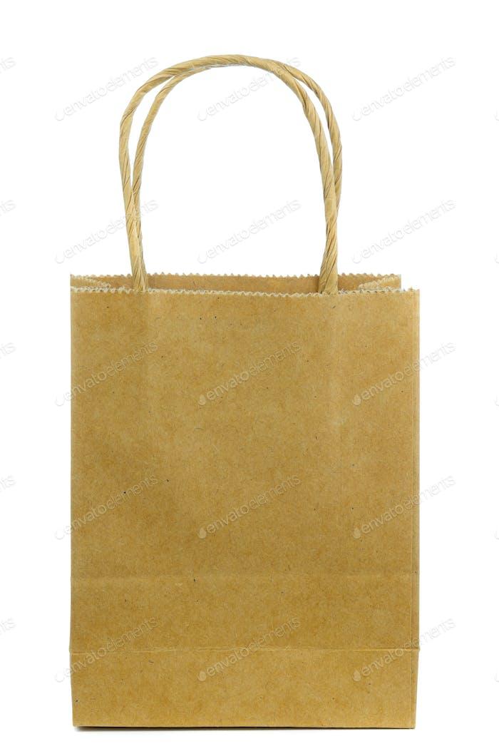 A Brown Paper Shopping Bag
