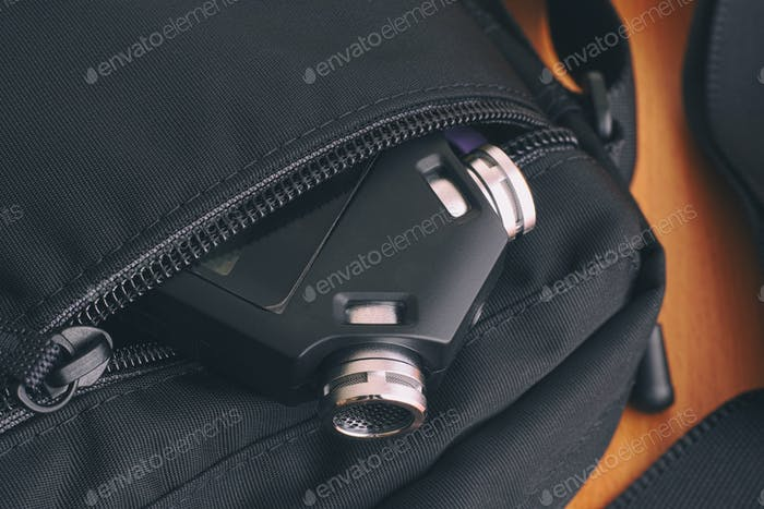 Voice recorder in a bag