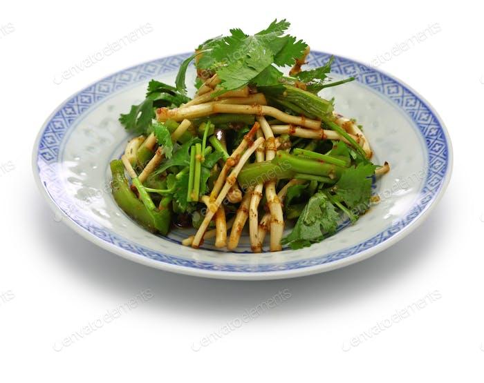 chinese Zhe'ergen salad,  fish mint root salad,  guizhou cuisine