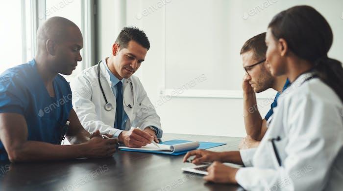 Medizinisches persönliches Treffen