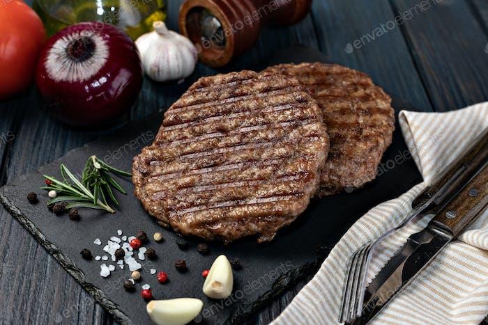 Fresh meat cutlets