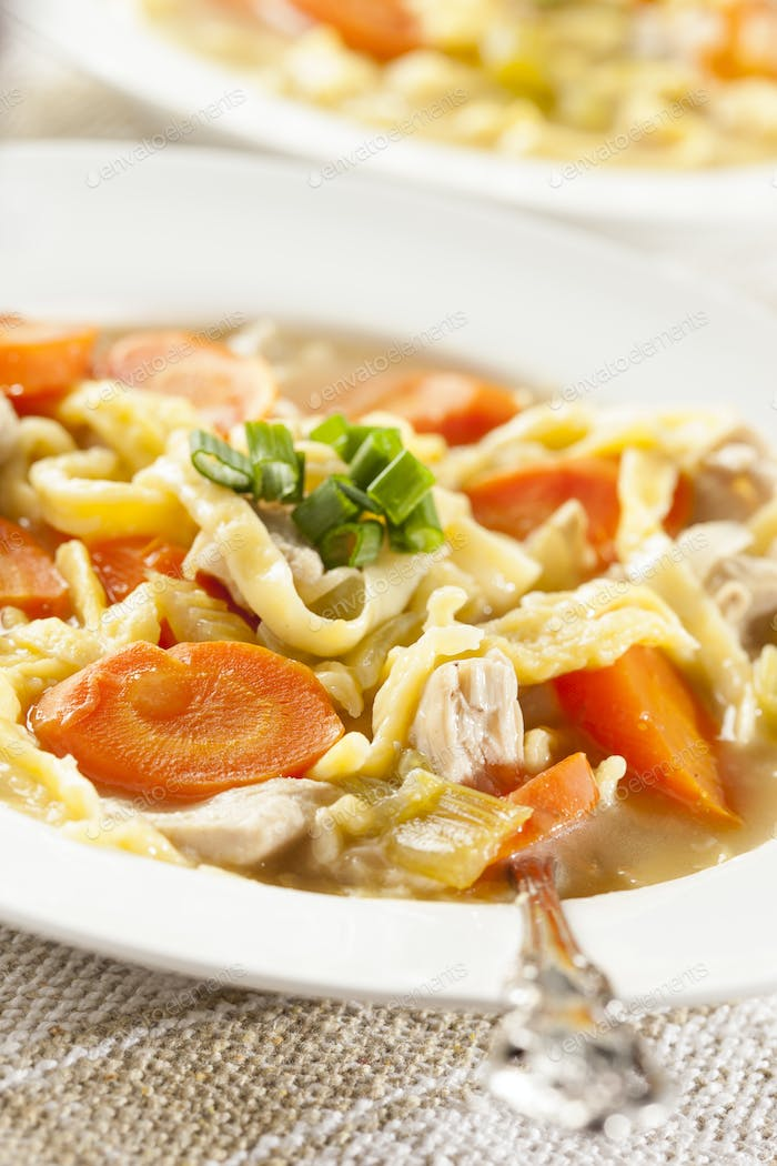Homemade Organic Chicken Noodle Soup
