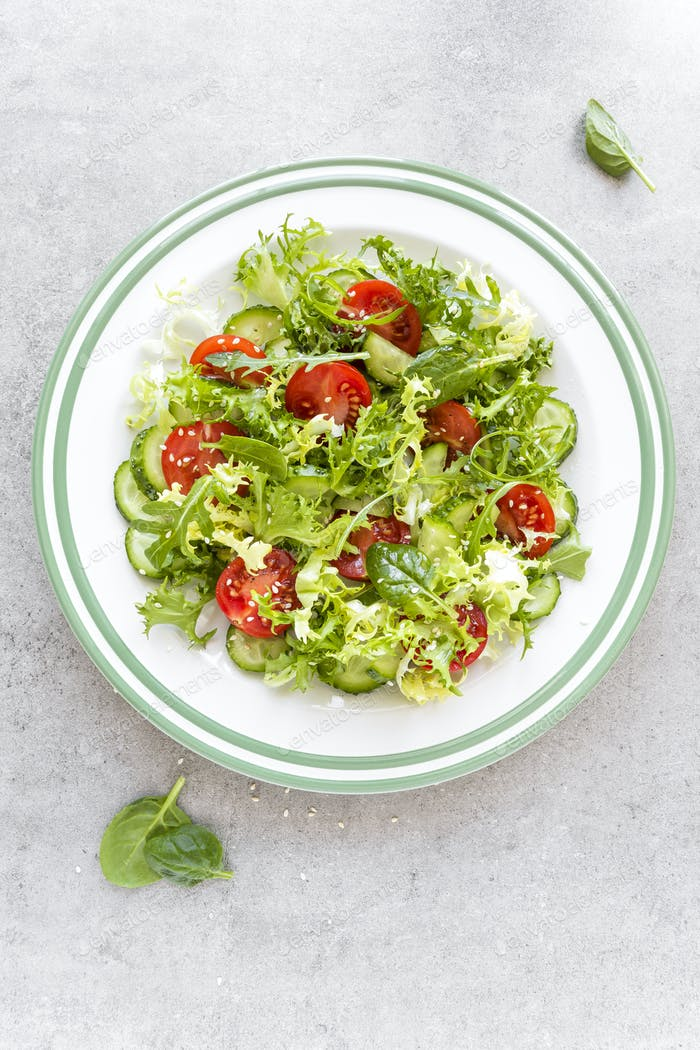 Gesunder Gemüsesalat