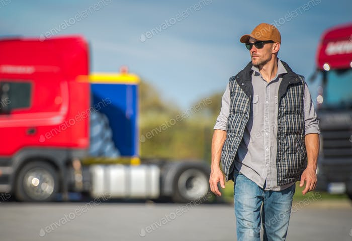 Trucker and the Truck Stop
