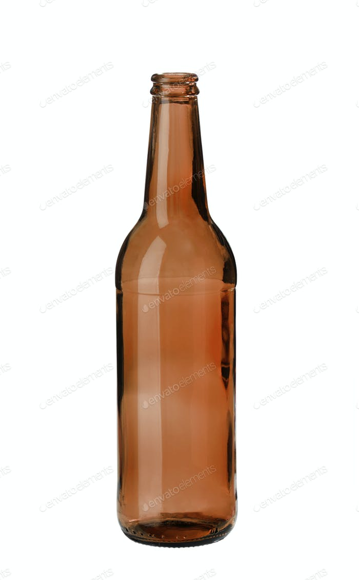 Amber beer bottle