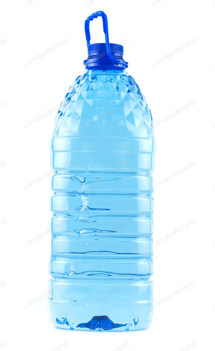 bottle with clean water