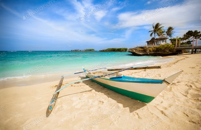 Philippines traditional fishing boat