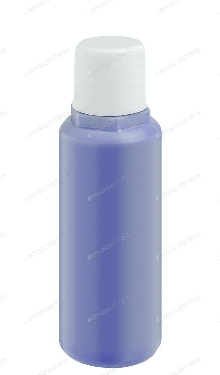 shampoo bottle isolated on white baclground