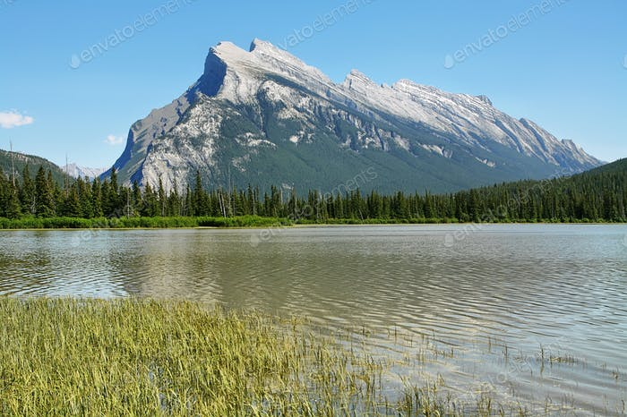 Mount Rundle; Vermilion Lakes Banff, Banff National Park, Alberta, Canada.