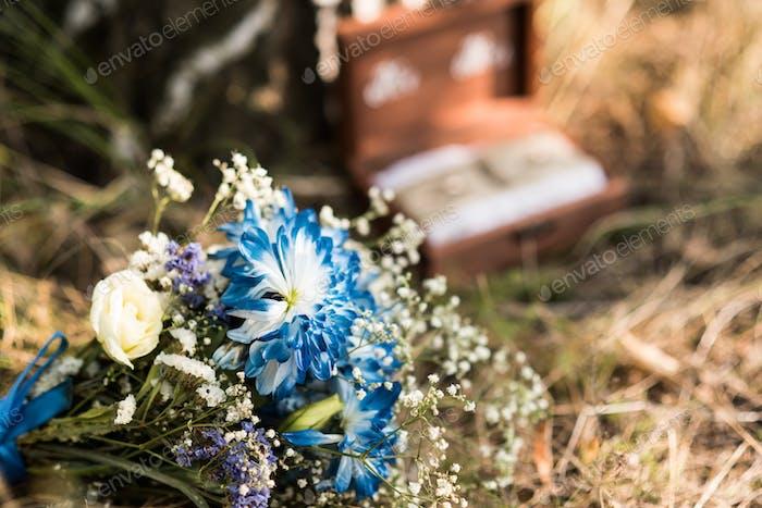 blue brides bouquet