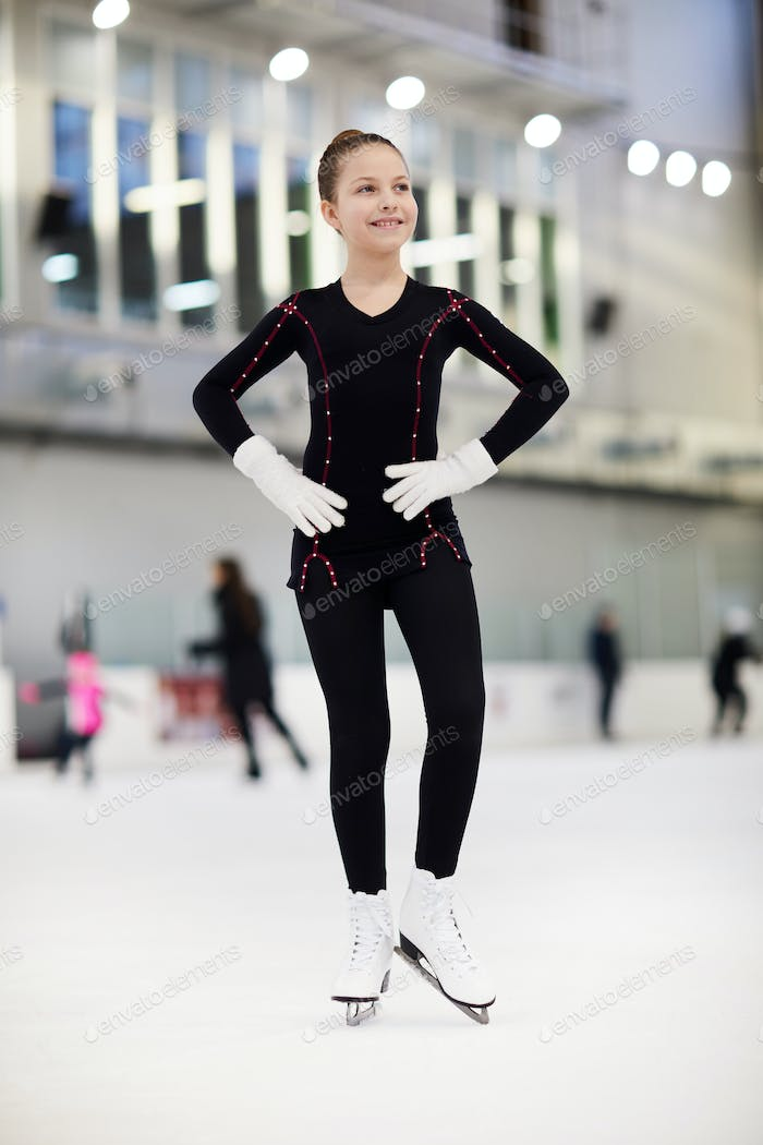 Happy Girl Figure Skating