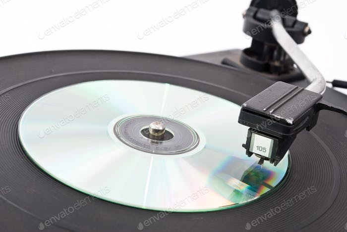 Vinyl player and compact disk