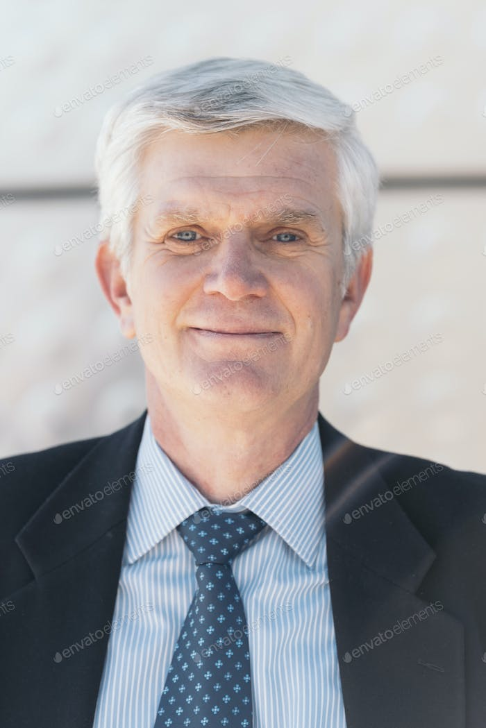 Senior Businessman in the Street.