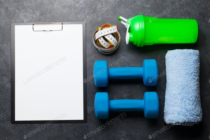 Fitness equipment and blank sheet for workout