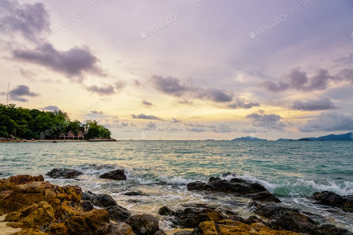 Sunset over the sea in summer at Koh Lipe island, Thailand