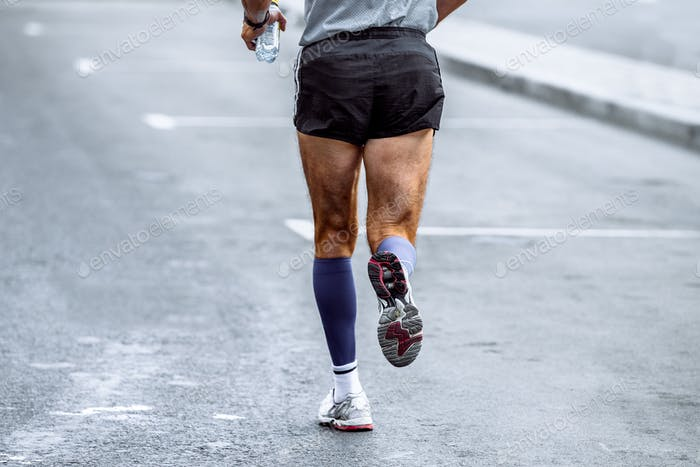 Back Male Athlete Running