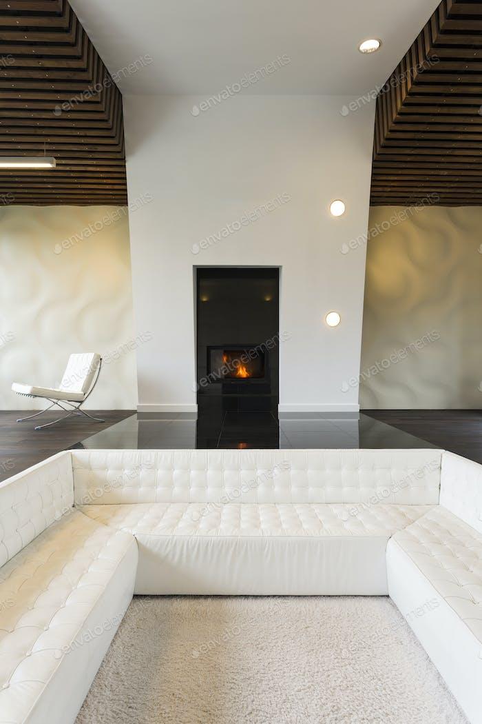 Sofa built in the floor