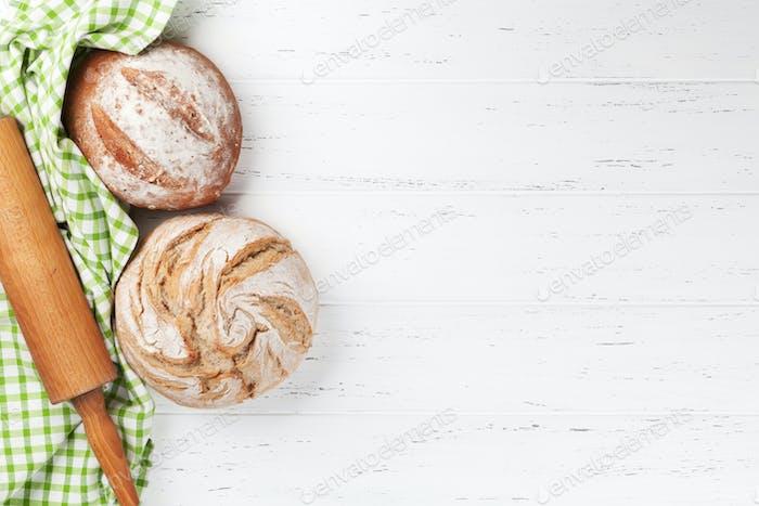 Various crusty bread