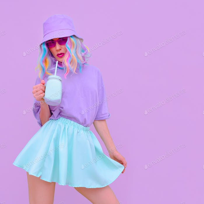Pastel Summer Vanilla Girl.  Fresh romantic vibes.