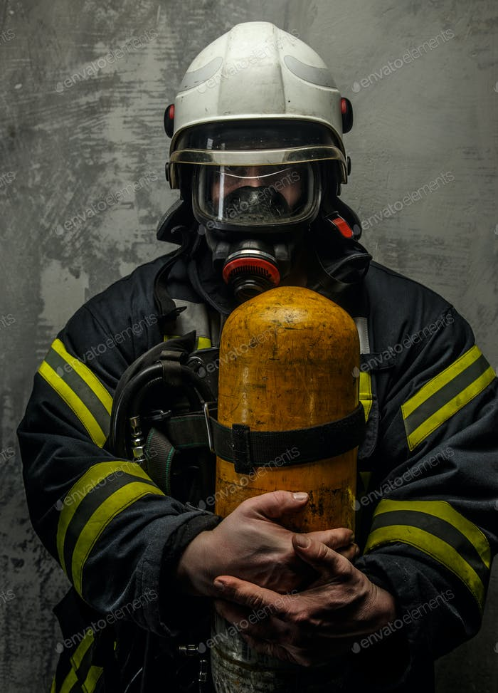 Firefighter in uniform