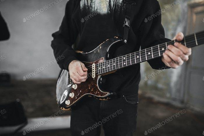 Gitarrist in der Band