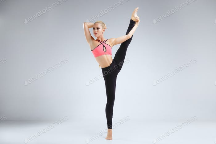Thumbnail for Dancer stretching in the studio