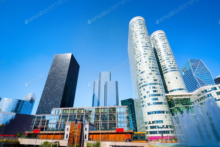 Modern business district