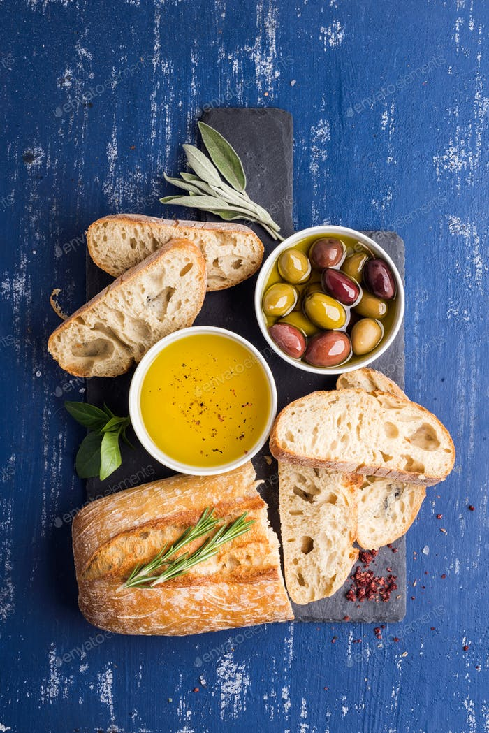 Mediterranean snacks set