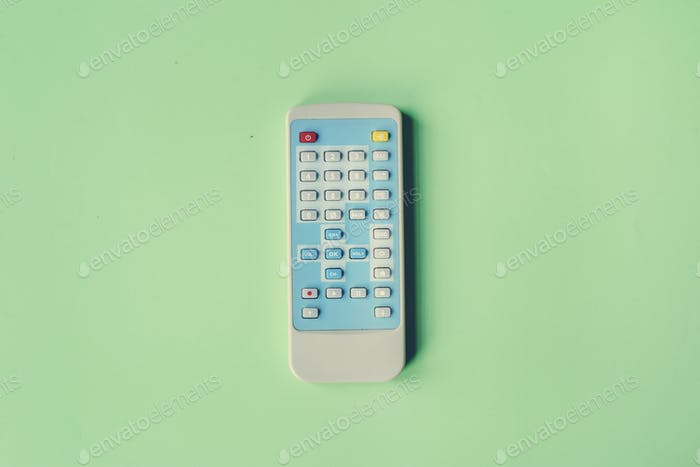 Remote control channel switch keypad isolated on background
