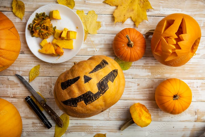 Halloween-Carving-Konzept