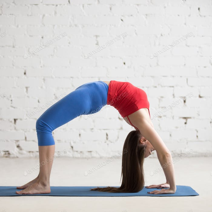 Beautiful Yoga Woman Doing Bridge Pose