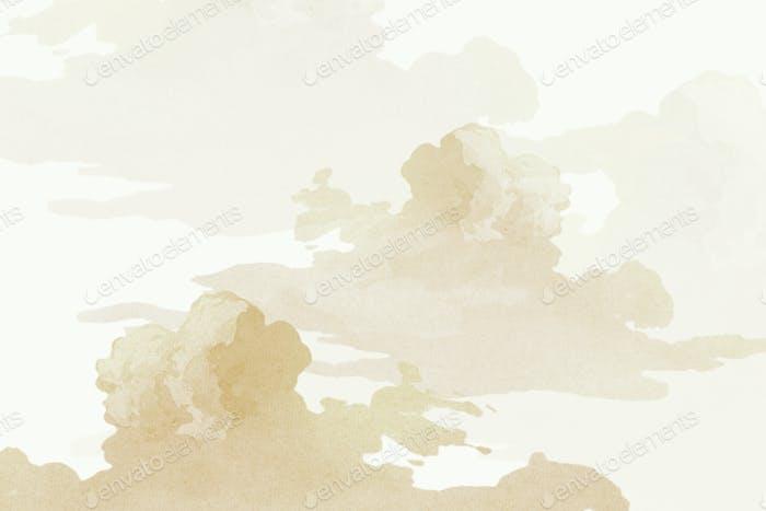 Golden cloudy sky background design resource