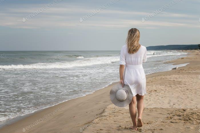 Woman on a beach